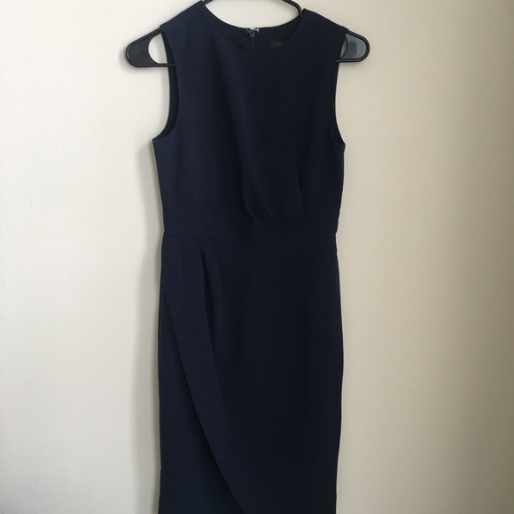 J. Crew Dresses & Skirts - NWOT J. Crew Asymmetrical Sheath Dress 0P Navy